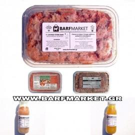 Barf Προσφορά 10 kg ΤΡΟΦΕΣ BARF ΣΠΙΤΙΚΟ ΓΕΥΜΑ + ΖΩΜΟΙ +2 ΠΡΩΤΕΙΝΕΣ + ΠΡΟΒΙΟΤΙΚΑ!