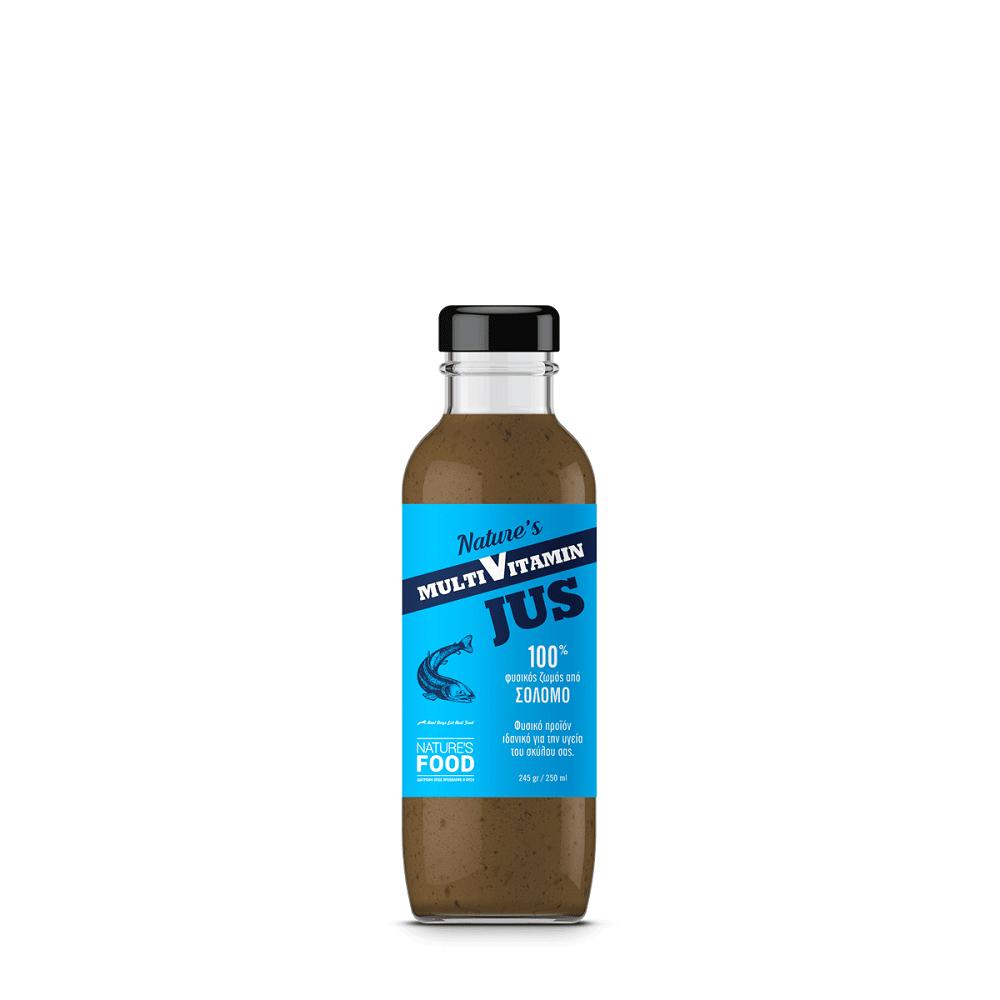 Nature's Food Φυσικός Ζωμός από Σολομό με χονδροϊτίνη, γλυκοζαμίνη, κολλαγόνο 250 ml