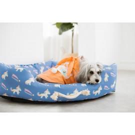 Κρεβατάκι σκύλου Unicorn γαλάζιο Large 100χ70χ24 εκ.