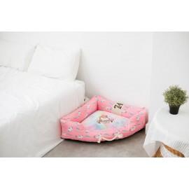 Κρεβατάκι σκύλου Unicorn ροζ Large 100χ70χ24 εκ.